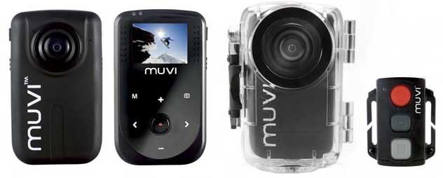 actionvideokameror med LCD, undervattenshus och fjärrkontroll