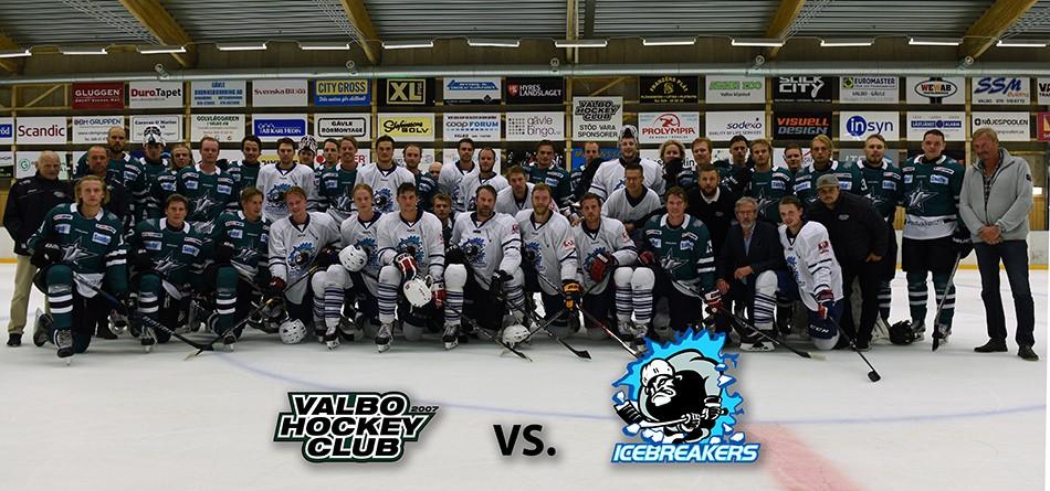 Lagbild från matchen mellan Valbo och Icebreakers